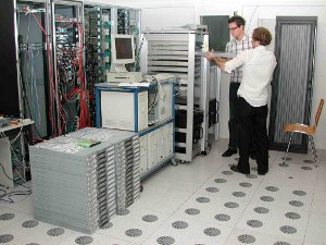 Figure 3: Work on the local computing cluster in Bern.