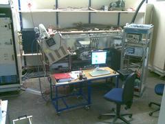 2 MeV proton RFQ LINAC setup at Grosslabor.