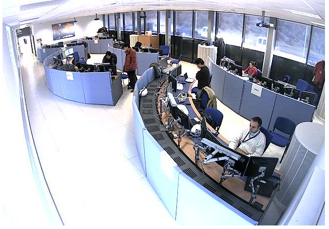 Figure 2: Part of the ATLAS control room.
