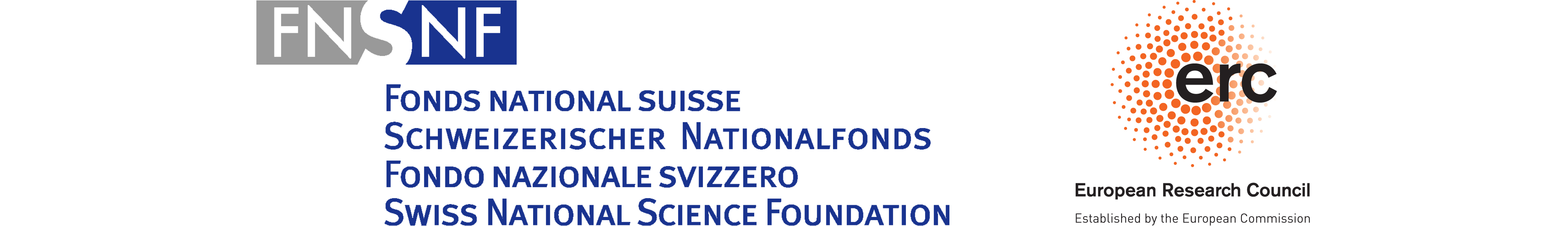 Swiss National Science Foundation Logo / European Research Council Logo